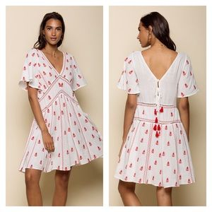 RAGA Ruby Embroidered Dress Boho Medium